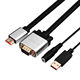 13years factor free sample custom logo HDMI to VGA KVM Cable with Audio Converter