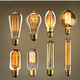 Inspired by Thomas Edison these incandescent filament style bulbs provide retro vintage light ambiance
