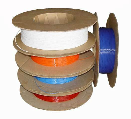 all gauges 1.2mm-3.0mm binding plastic filament, plastic wire filament,spiral coil raw material PVC or PET on bobbin spool