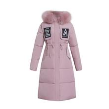 Women Coat Jacket Medium Length Woman Parka With Fur Winter Thick Coat