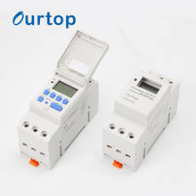 AHC15A AC/DC 12V 24V 220V On Off  Hour Timer Price School Weekly Din Rail Digital Programmable Time Switch