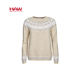 Wholesale New Design O-Neck Wool Women Reindeer Christmas Sweater