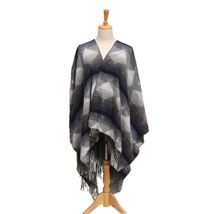 plain travel picnic party shawl and concert cloak Blanket Poncho Cape Shawl Coat