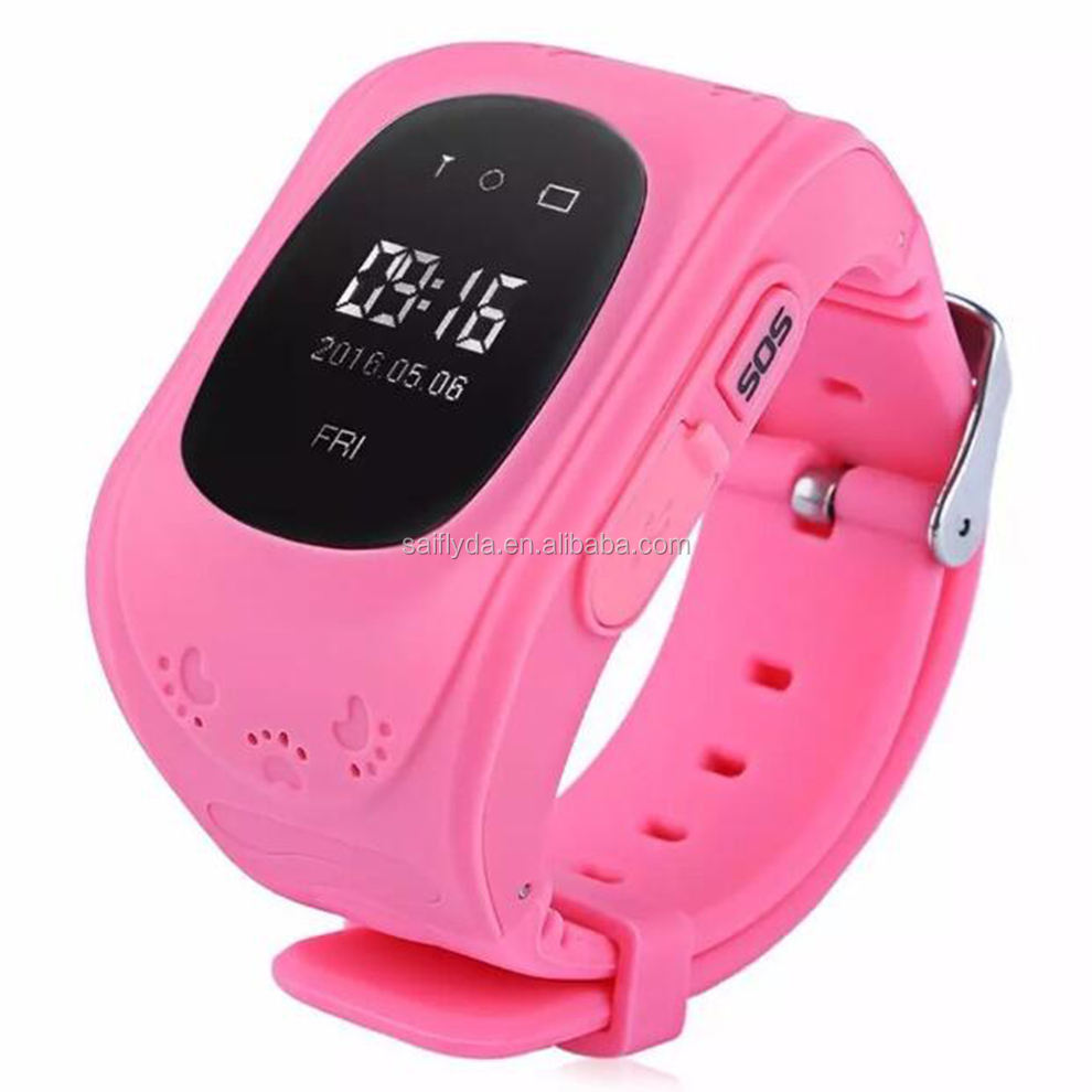2017 latest mobile phone GPS SOS Q5 smart watch for kids