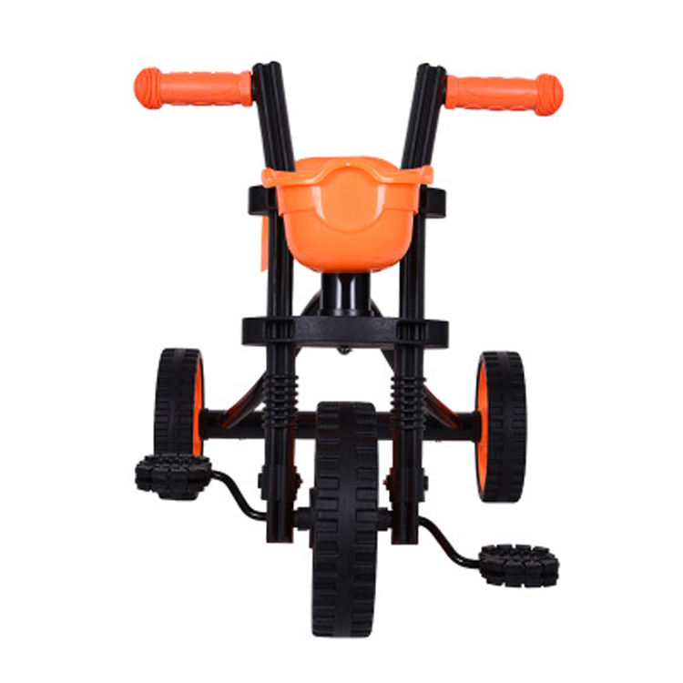 2018 most popular baby trolley walker chair / iron frame baby tricycle / baby doll rricycle with mute wheels for sale