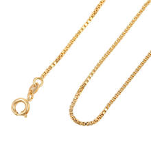 42970-cheap wholesale fashion jewelry 18k gold 1mm wide 50cm long chains