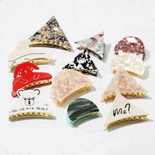 New arrival cartoon animal acetate hair claw clip for beautiful girl
