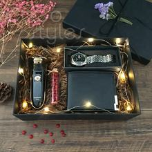 Cocostyles bespoke luxury popular hot gift box with wantch wallet shaving machine men gift set birthday business present