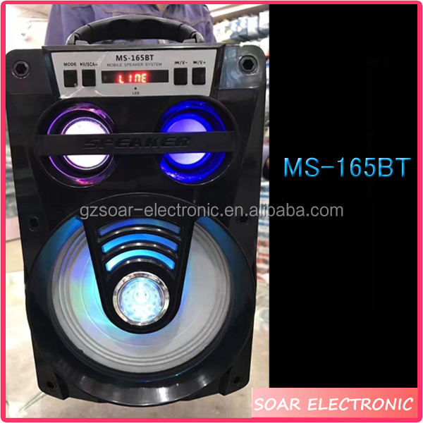 [Melambung] LED Light MS-165BT Kayu Bluetooth Speaker Dengan USB SD FM <span class=keywords><strong>Radio</strong></span> Speaker Woofer
