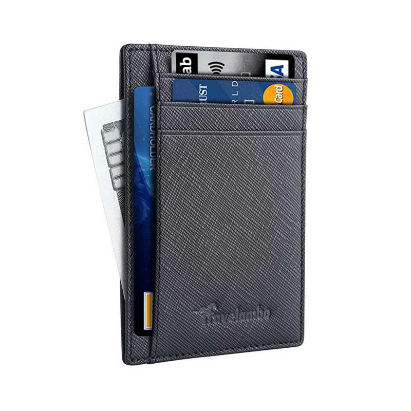 Customized LOGO RFID credit card holder man wallet