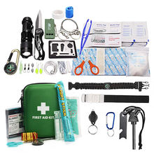 FDA CE Approved First Aid Survival Kit, Emergency Kit Earthquake Survival Kit Trauma Case Bag for Car,Home,Outdoor