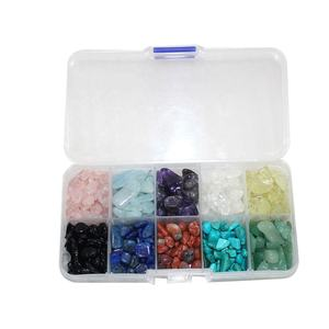 crystal gravel tumbled stone box sets mineral specimen boxes healing crystal box set