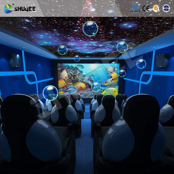 Romantische Oceaan Ontwerp Voor Oceaan Thema Park 9D Movie Theater Spelen 9D Sea World Film