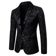 Men's Floral Party Stylish Dinner Jacket Wedding Men Blazer Prom Tuxedo Dress Suit