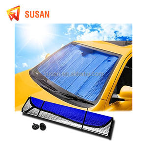 aluminum foil pop up car sun shade front window red sunshade