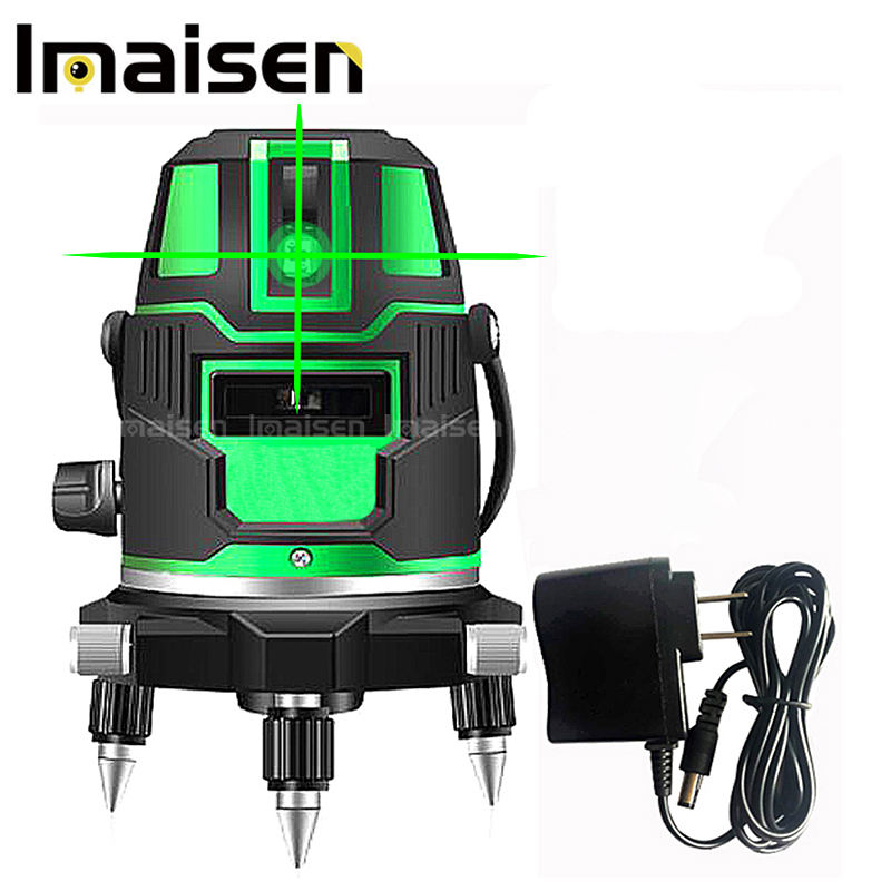635nm 5 lines 6 points green/red laser level 360 degree rotary Self leveling cross laser line level with outdoor mode