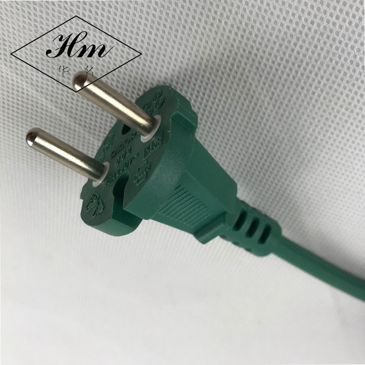 Hot Selling In China Market Euro Power Cord with European extension cord with 2 pin plug