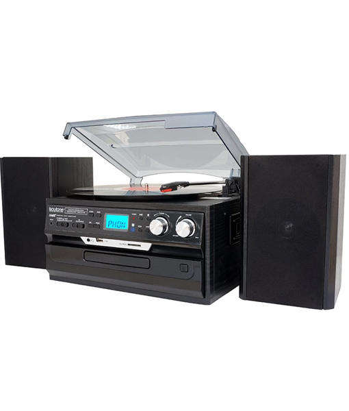 Multi Media Music center VINYL PLAYER WITH external speakers, CD player, USB SD Cassette play& record, Radio