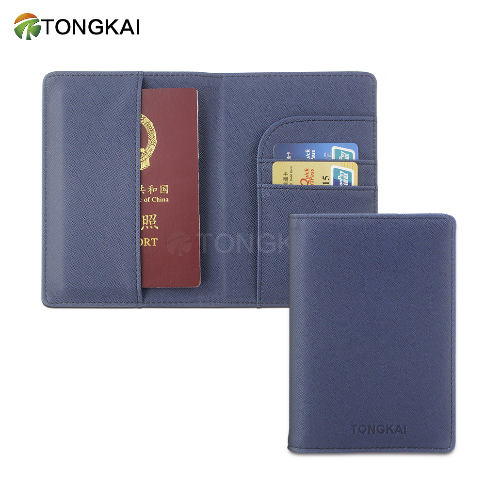 New Design Wholesale Custom Leather Wallet Passport Holder Cover