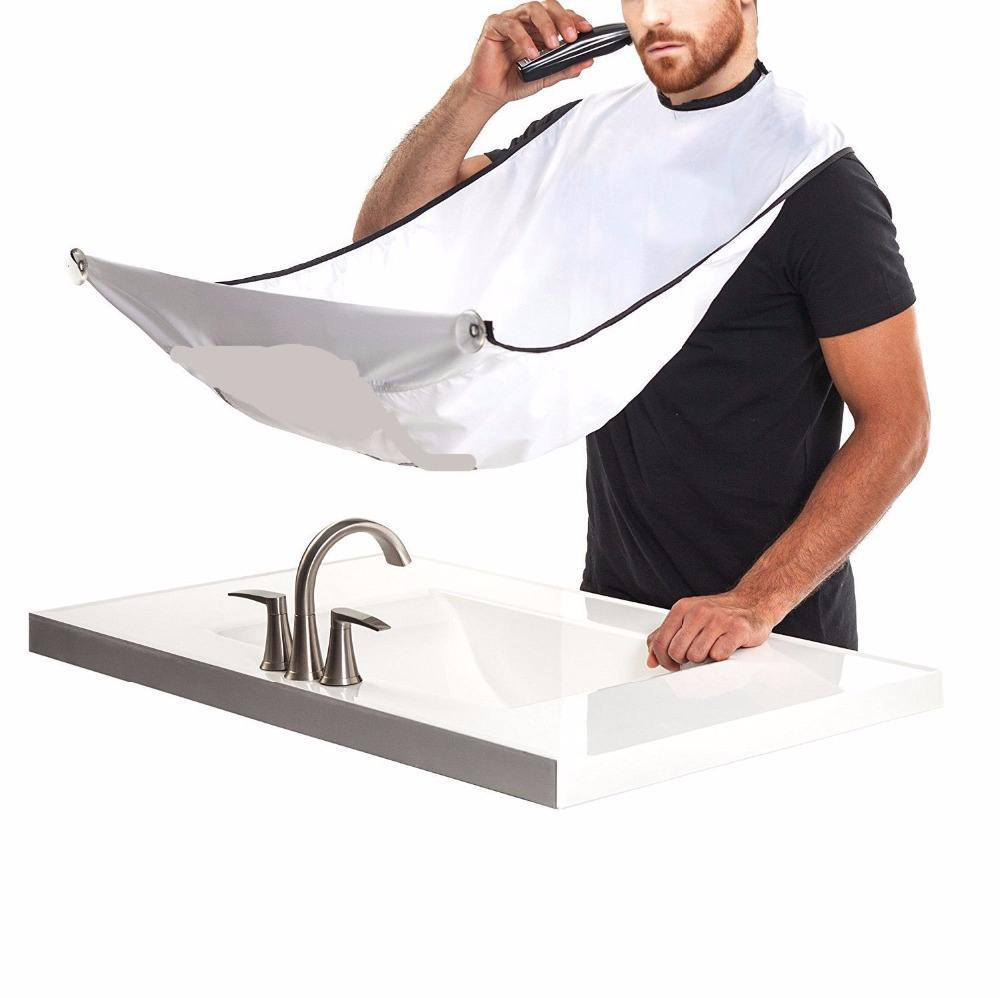 Collar Zipper Beard Hair Cut Salon Shave Barber Apron