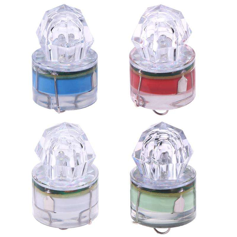 ABS Mini LED Waterproof Fishing Bait Light LED Deep Drop Underwater Fish Lure Flashing Lamp Light Bait Lure Squid Strobe