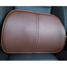 Brown Color Car Headrest & Lumbar Support Pillow
