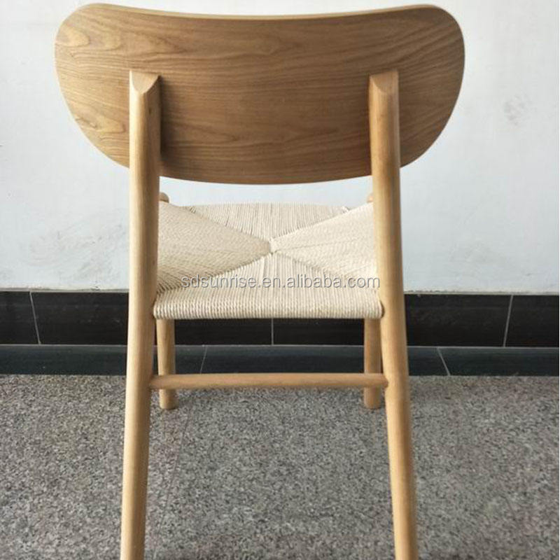 comfortable rattan wood dining chair with arm