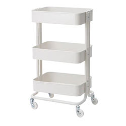 3-Tier Metal Utility Service Cart Rolling Storage Shelves St
