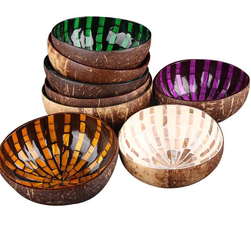 Handmade Coconut Shell Bowl Natural For Salads, Breakfast,Rice