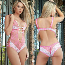 Hot Sale Hollow Out Texture Transparent Lace Temptation Render Sexy Women Lingerie