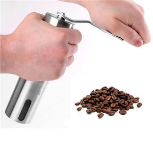 Manual Coffee Grinder Conical Burr Mill For Brewing Brushed Stainless Steel Premium Ceramic Burr Coffee Grinder