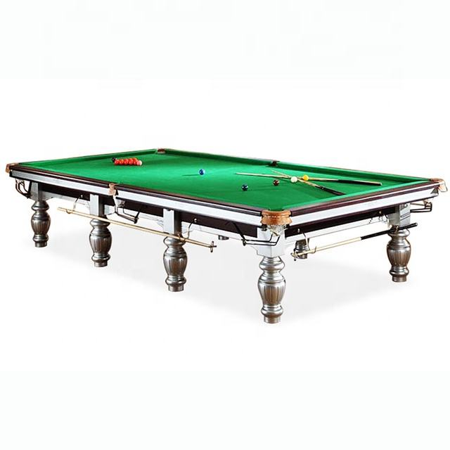 High Quality 6x12 ft Solid Wood Slate Top Snooker Billiard Table With Steel cushion