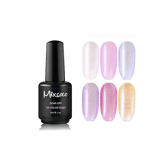 <span class=keywords><strong>Scintillio</strong></span> Come Il Diamante 12 Colori Mermaid Lucido Del Gel <span class=keywords><strong>Polacco</strong></span> di Chiodo Uv di Alta Qualità Soak Off Gel Polish