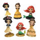 Packaging Customization [ Action Figures ] Anime Princess SnowWhite Mermaid Cake Toppers Birthday Action Figures
