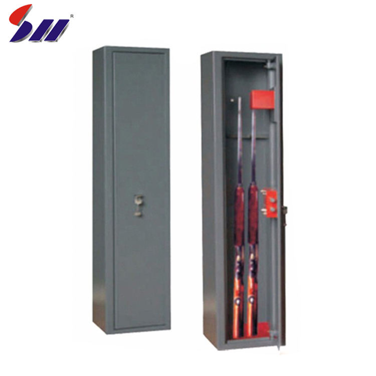 New simple to operate high security mechanical lock reliable storage steel army safe gun cabinet