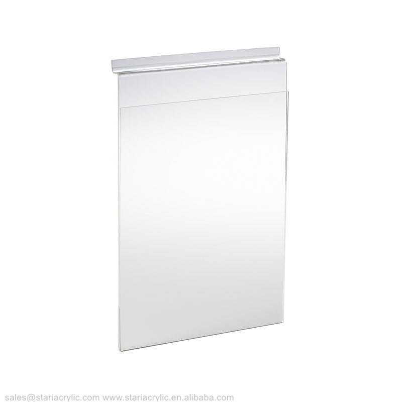 A4 Portrait Leaflet Display for Slatted Wall Panel Acrylic Slotwall Clear Sign Holder Clear Sltatwall Picture Frame