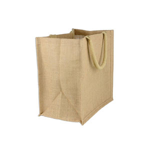Foldable Natural Recycle Carry Jute Shopping Tote Bags Manufacturer