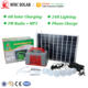 6 led build African home lighting 20W DC solar system kits
