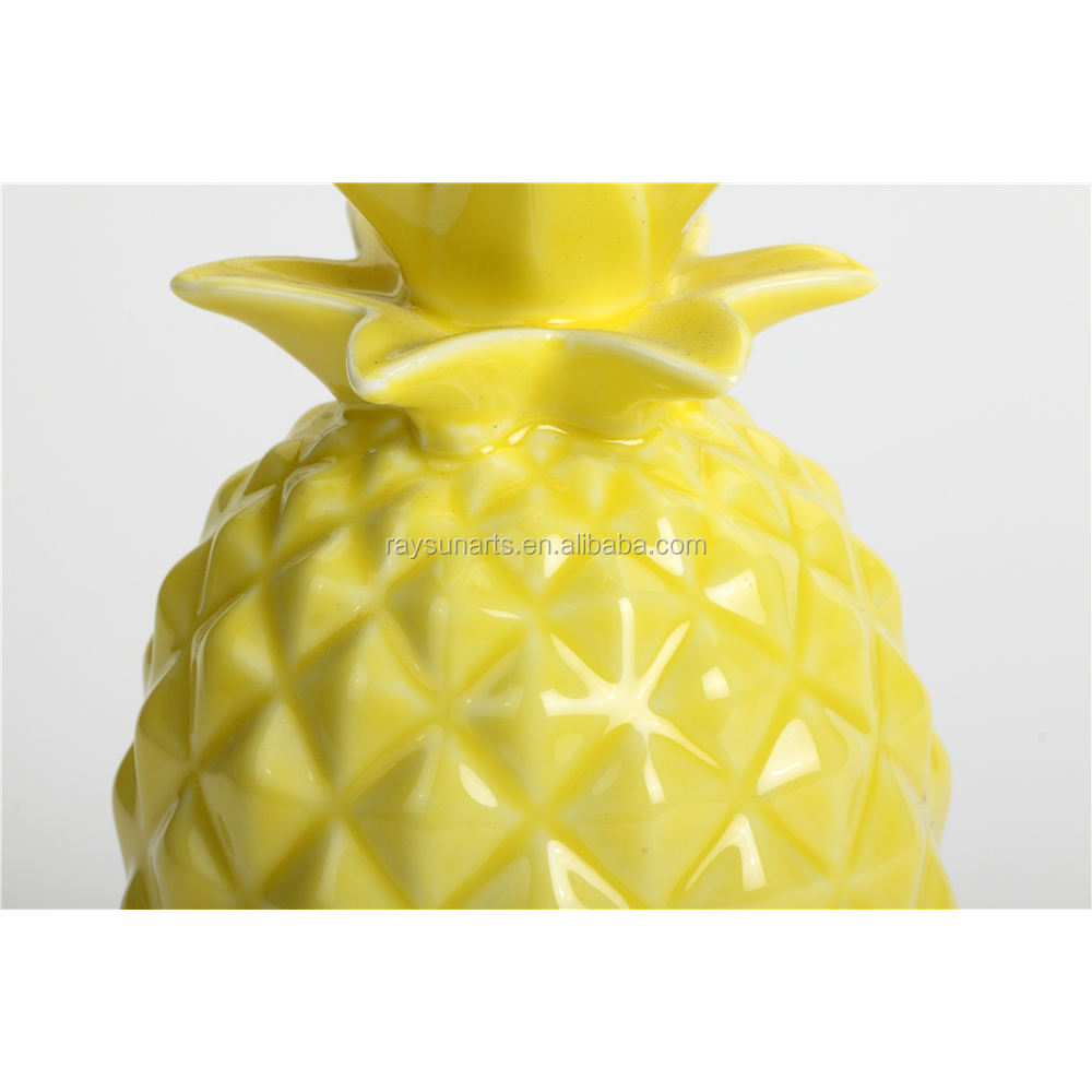 Ceramic Decorative Pineapple Ornaments For Home Decoration
