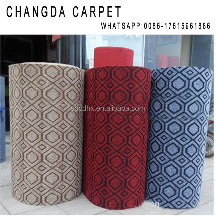 outdoor jacquard cheap made in China muslim wall to wall polyester carpet