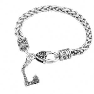 Wholesale Nordic Viking Sekira Axe Amulet Pendant Bracelet and Vintage Irish Knots Religious Jewelry Gift