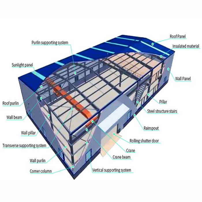 warehouse color dome steel roof structure building steel structure plans