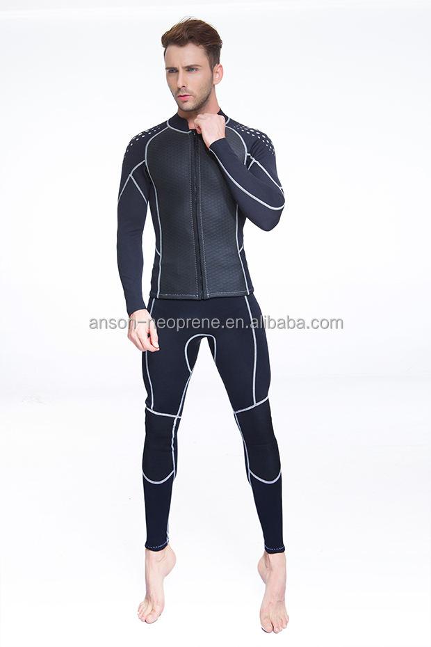 Herren haifischhaut neooprene strand outfit neoprenanzug zweiteilige set schwarz