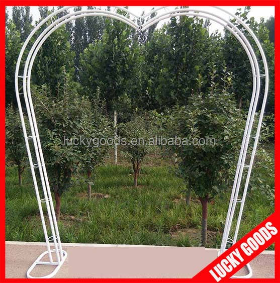 customized heart shape metal garden wedding arch wholesale