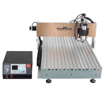 Desktop mini 3/4 axis cnc router 6090 milling carving engraving router machine without water sink for sale