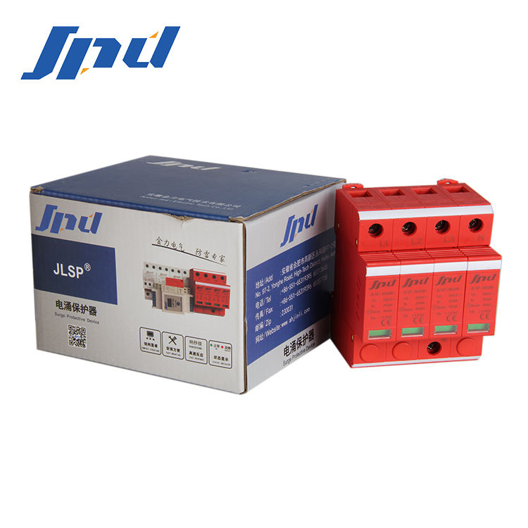 JINLI ac spd 385v Power surge suppressor 4P surge protection devices 40KA 3phase Surge Protective Device