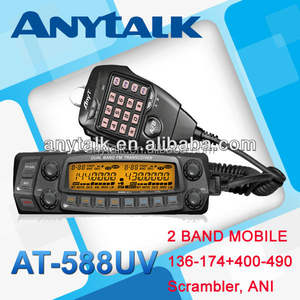 Anytone AT-588UV kendaraan dual band 2 way radio mobile