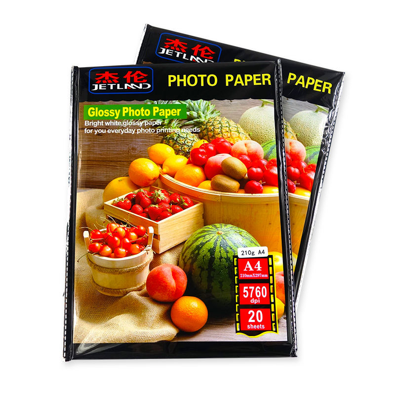 High glossy <span class=keywords><strong>A4</strong></span> 160gsm glossy photo paper Inkjet <span class=keywords><strong>Papel</strong></span> Da Foto Frente E Verso