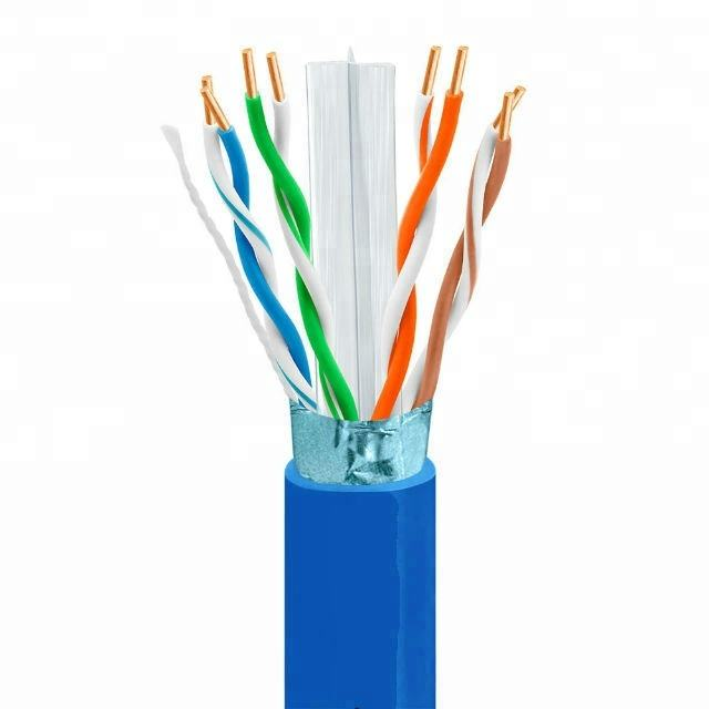 Cable de red FTP Cat 6 cable networking con brindaje de AL lamina