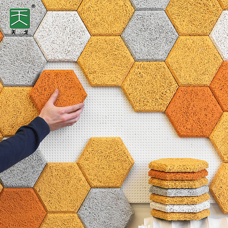 Room wall Anti-shock And Sound absorbing foam wood wool soundproofing Board Acoustic Ceiling Tiles